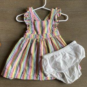 Baby Gap striped apron dress, 6-12 months